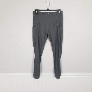 APANA Gray Cropped Yoga Pant Leggings Size Medium